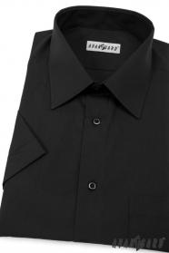 Herren Hemd  kurzarm  Schwarz