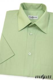 Herren Hemd  kurzarm  Grün