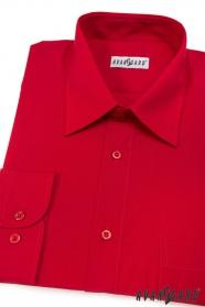 Herren Hemd  mit langen Ärmeln  Rot