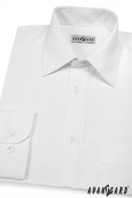 Herren Hemd  langarm  Weiß glatt 451-1