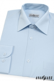 Herren Hemd  langarm  Hellblau