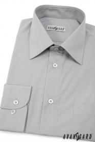 Herren Hemd  langarm  Grau