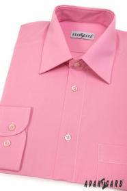 Herren Hemd  langarm  Rosa