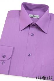 Herren Hemd  langarm  Violett