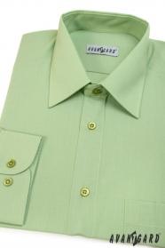 Herren Hemd  langarm  Grün