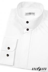Hemd mit Flügelkragen langarm weiß