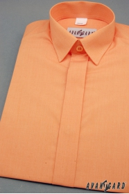 Jungen Hemd verdeckte Knopfleiste orange
