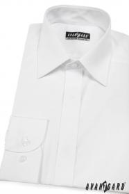 Herren Hemd  verdeckte Knopfleiste  Weiß