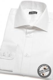 Herren Hemd  langarm  Weiß 100% Baumwolle