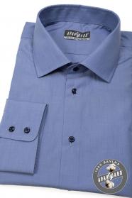Blaues Herren Hemd 100% Baumwolle