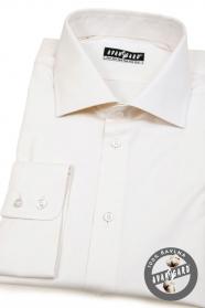 Herren Hemd creme 100% Baumwolle