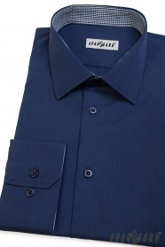 Blaues Männer Avantgard Langarmhemd