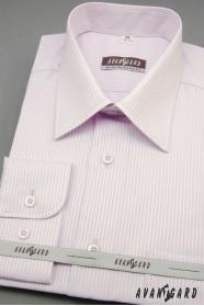 Herren Hemd langarm  Lila mit feinem Streifen
