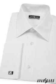 Herren Hemd  MK  Weiß mit feinem Streifen