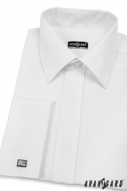 Herren Hemd SLIM weiß mit glänzendem Streifen