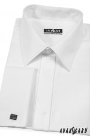 Herren Hemd weiß 80% Baumwolle