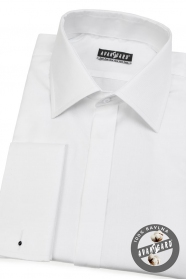 Herren Hemd  für MK verdeckte Knopfleiste  Weiß