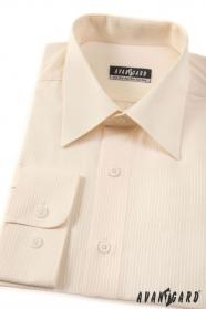 Herren Hemd  langarm creme mit feinen Streifen