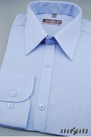 Herren Hemd  langarm  Mittelblau 527-299