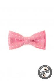 Junge rosa Fliege mit weißen Punkten