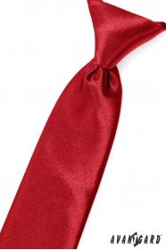 Jungen Kinder Krawatte rot mit Glanz