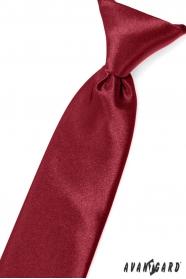Jungen Krawatte in Burgunder Farbe