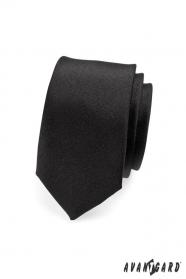 Kravatte SLIM schwarz matt