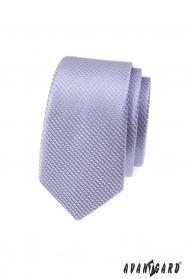 Lila schmale gemusterte Avantgard Krawatte
