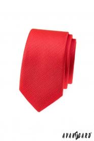 Rot strukturierte, schmale Avantgard Krawatte