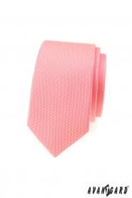 Schlanke Krawatte in Lachsrosa