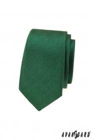 Grüne schmale Krawatte mit Oberflächenstruktur