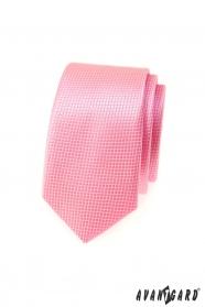 Schmale Avantgard Krawatte - rosa Würfel