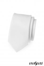 Schmale Krawatte Weiß mattiert