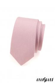 Krawatte SLIM Puderrosa matt