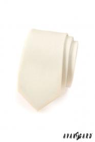 Schmale, cremefarbene Avantgard Krawatte