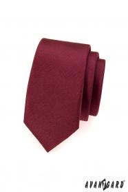 Krawatte SLIM bordeaux matt