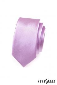 Schmale Krawatte Lila Glanz