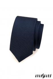 Glatte blaue dünne Krawatte SLIM