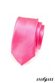 Schmale Krawatte Fuchsia Rosa