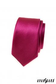 Schmale Krawatte in glänzendem Burgund