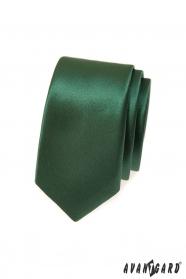 Dunkelgrüne schmale Krawatte