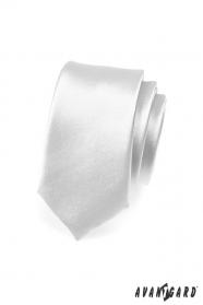 Silberne schmale Krawatte SLIM
