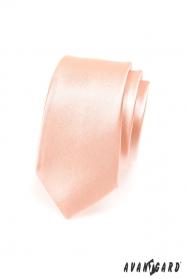 Schmale Herren Krawatte Lachsrosa