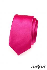 Herren schmale Krawatte in Fuchsia