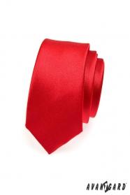 Rote schmale SLIM Krawatte