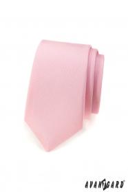 Schmale Krawatte mattierte Rosa