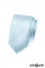Himmelblaue schmale Krawatte