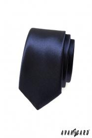 Glatte dunkelblaue schmale Krawatte