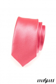 Schmale korallenrote Krawatte