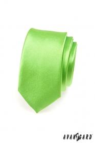 Schmale Krawatte Grün Hochglanz
